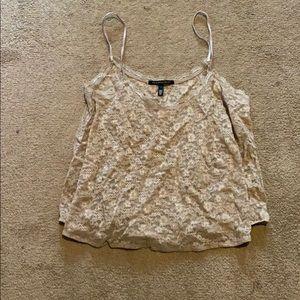 Victoria's Secret beige crop top